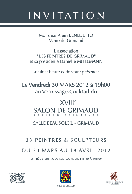 Modele carte invitation salon for Exemple de salon